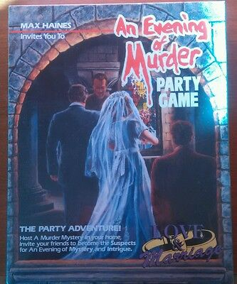 An Evening of Murder Party Game Love and Marraige New In Box Sealed