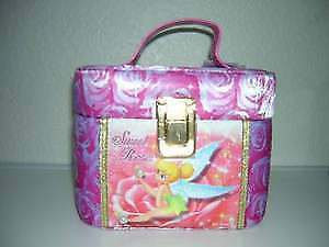 Japan Disney Sweet Roses Tinker Bell Jewelry Makeup Box Caddy with Mirror