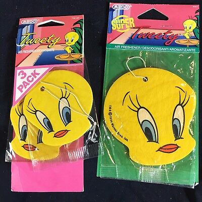 Looney Tunes TWEETY BIRD Air Freshener - 1994 & 1995 Medo Warner Bros