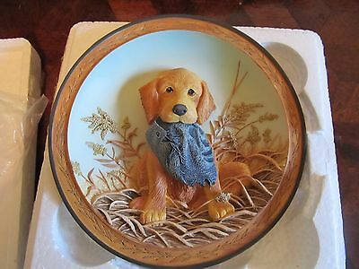 Bradford Exchange hat check  cute puppy   3D plate   FREE SHIPPING
