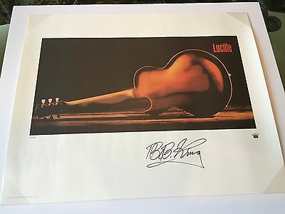 BB King Signed Lithograph