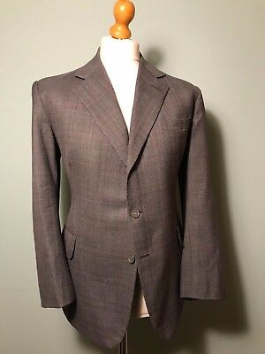 Bespoke three 3 piece Prince of Wales suit size 40