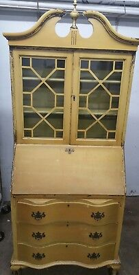 Vintage Maddox Secretary Drop Front Desk Chippendale Claw Foot