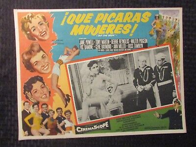 1955 HIT THE DECK Foreign 16x12 Lobby Card VG 4.0 Jane Powel LOT of 2