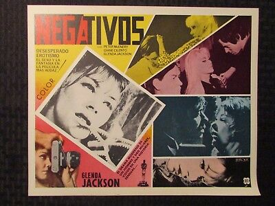 1968 NEGATIVOS Foreign 13x11 Lobby Card LOT of 9 FN/FN+ Peter McEnery