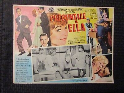 1959 ASK ANY GIRL Foreign 16x12 Lobby Card VG-/VG LOT of 4 Shirley MacLaine