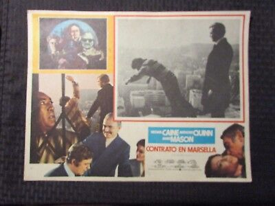 1974 THE MARSEILLE CONTRACT Foreign 16x12 Lobby Card VG-/VG+ LOT of 5