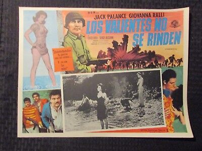 1962 WARRIORS FIVE Foreign 16x12 Lobby Card VG-/VG+ LOT of 10 Jack Palance