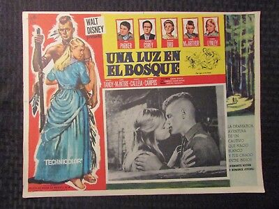 1958 THE LIGHT IN THE FOREST Foreign 16x12 Lobby Card VG 4.0 Walt Disney
