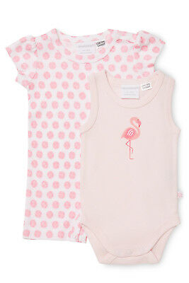 NEW Marquise Short Sleeve Romper With Sleeveless Bodysuit Pink