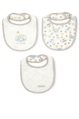 NEW Peter Rabbit Bib Set 3PK White