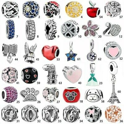 925 sterling European Silver Charms pendant Bead For Chain Bracelet bangles