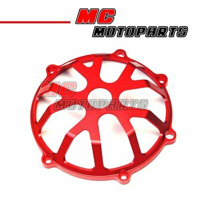 Red For Ducati Open Billet Clutch Cover 748 999 1098 1198 S R 916 998 CC01