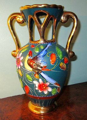 Hubert Bequet Quaregnon Belgium Large Hand Crafted Pottery Vase Hallmarked 1950s