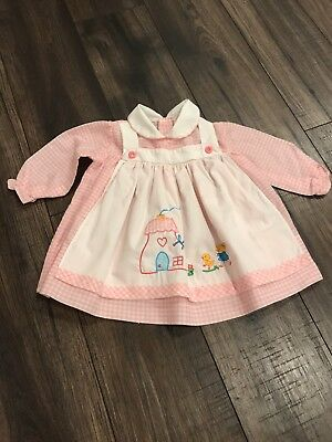 Vintage 1950s  Baby Girl Dress Size 3/6 Months