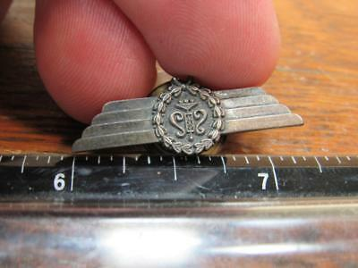 Rare Wings Pin Screwback Space Airline Pilot Military WWI WWII R. Stoll  (17j1)