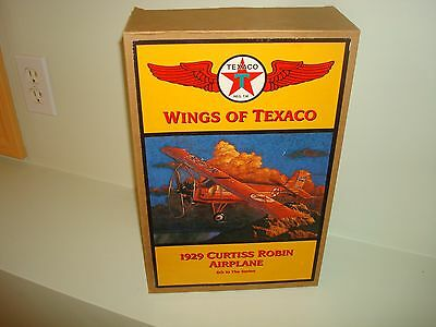 1929 Curtiss Robin Airplane Wings Of Texaco Replica Die Cast Bank 1998