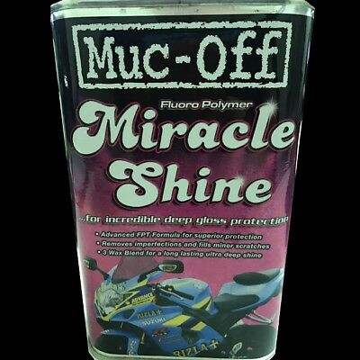 MUC-OFF MIRACLE SHINE FLUORO POLYMER MOTORCYCLE POLISH & PROTECTION 500ml #M947