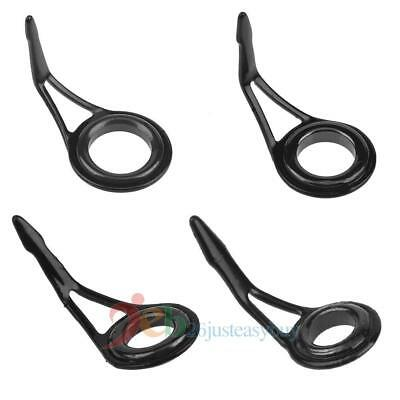 Fishing Rod Guide Ring Set Ceramic Steel Fishing Line Guide Tips Spinning NEW