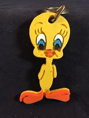 Vintage Looney Tunes TWEETY BIRD 1989 Rubber PVC Keychain Warner Bros
