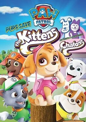 Paw Patrol Pups Save The Kittens Region 1 DVD Brand New