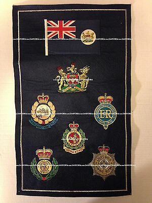 Collectible British Hong Kong Disciplined Services Dept embroi badges sheet,used