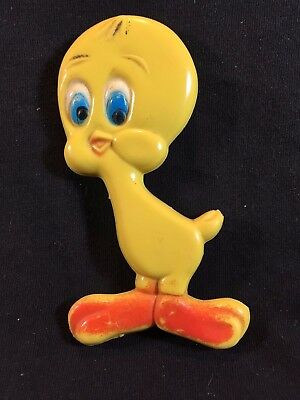 Vintage Looney Tunes TWEETY BIRD 1975 Rubber PVC Toy Warner Bros