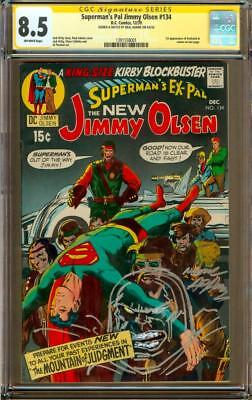 Superman's Pal Jimmy Olsen #134 CGC 8.5 OW SS Signed + Sketched by Neal Adams