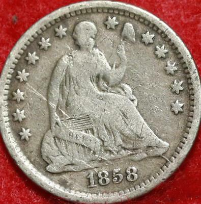 1858-O New Orleans Mint Silver Seated Liberty Half Dime Free S/H