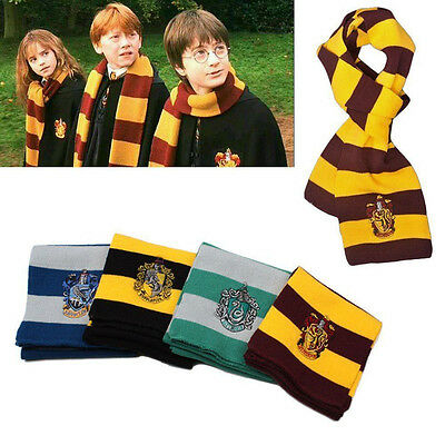 Harry Potter Gryffindor Hufflepuff Ravenclaw Kids Students Winter Wool Warm Wrap