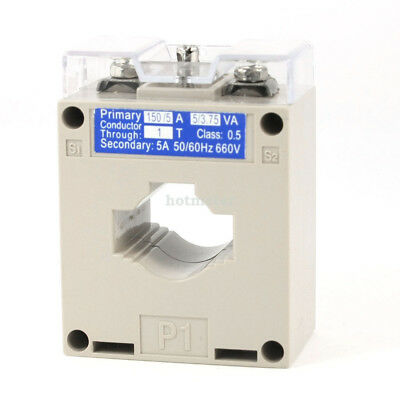 BH-0.66 Type 0.66 KV 50/60 Hz  660V 1T 150 / 5 Ratio CT Current Transformer Gray