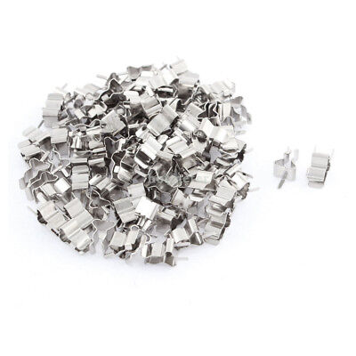 100Pcs 5x 20mm Glass Ceramic Tube Quick Fast Blow Fuse Clips Holder Silver Tone