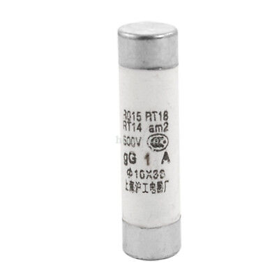 H● 20 Pcs Electrical 1A 10mm x 38mm Ceramic Tube Cylindrical Fuse Links