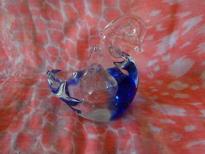 Duck Shaped Glass Paperweight