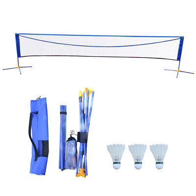 16'X5' Portable Height Adujstable Badminton Volleyball Tennis Net Set Equipment