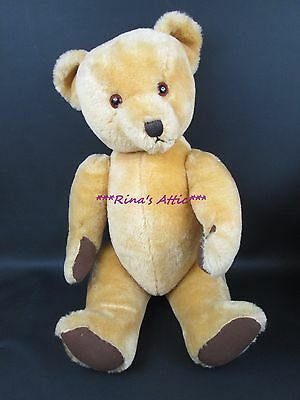 """Vintage Dean's Gwentoy Group 26"""" Golden Mohair Jointed Teddy Bear"""