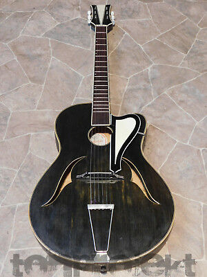 great vintage PERFECTUS archtop Jazz Guitar REICHEL Schlag-Gitarre Germany