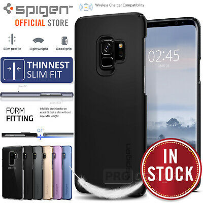 Galaxy S9/Plus Case Genuine SPIGEN Ultra Slim Thin Fit Hard Cover for Samsung