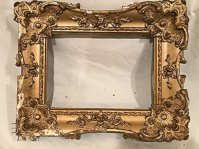Antique 14x10 Gold Gilded Picture Frame 19th Century C 1890s