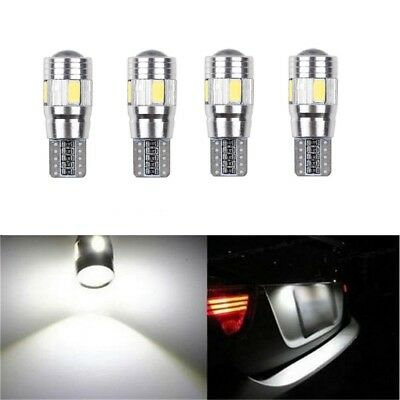 4x T10 501 W5W CAR SIDE LIGHT BULBS ERROR FREE CANBUS 6SMD LED XENON HID WHITE