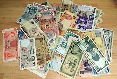Selection of 100 Banknotes (Various notes & conditions)