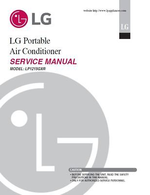 LG LP1215GXR Air-conditioner Service Manual and Repair Guide