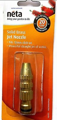 NETA SOLID BRASS JET NOZZLE FITS 12mm