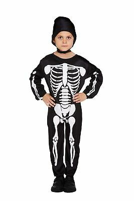 Halloween Fancy Dress Up Costume Skeleton Outfit Party Boys Dressing Up New