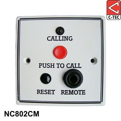 C-TEC NC802CM Standard Call Point Magnetic Reset c/w Remote Socket Nurse Call