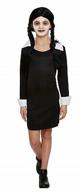 Halloween Wednesday Addams Scary Daughter Fancy Dress Up Costume Outfit Party