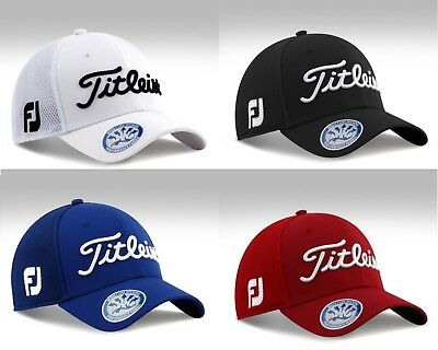 NEW 2017 Titleist Prov1 Tour Tech Golf FJ Mesh Stretch Fit CAP HAT S/M M/L L/XL