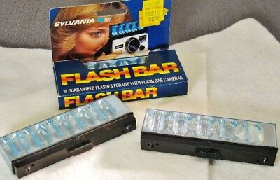 Vintage Sylvania Blue Dot Flash Bar - 23 Flashes, New Old Stock
