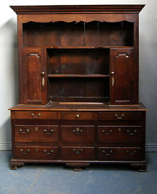 An Exceptional Antique Solid Oak Country Dresser
