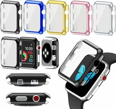 For Apple Watch Series 3 38/42mm Full Body Snap On Case Cover Screen Protector